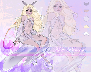 [CLOSED] Adoptable #7 The Moth Princess by ssserpentSpawn