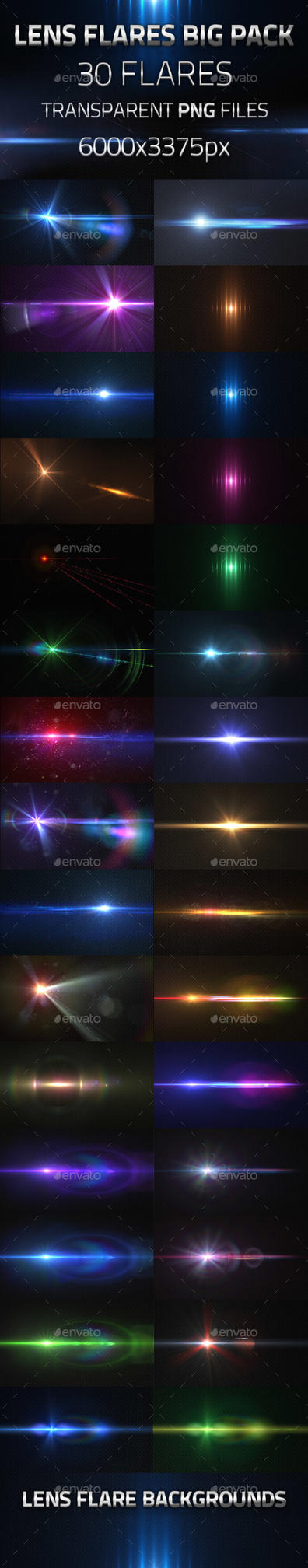 30 Lens Flares Pack by virusowy