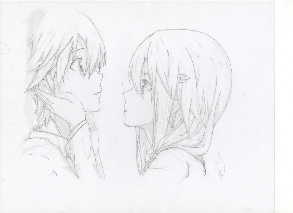 Inori and Shu by TotoCsierra