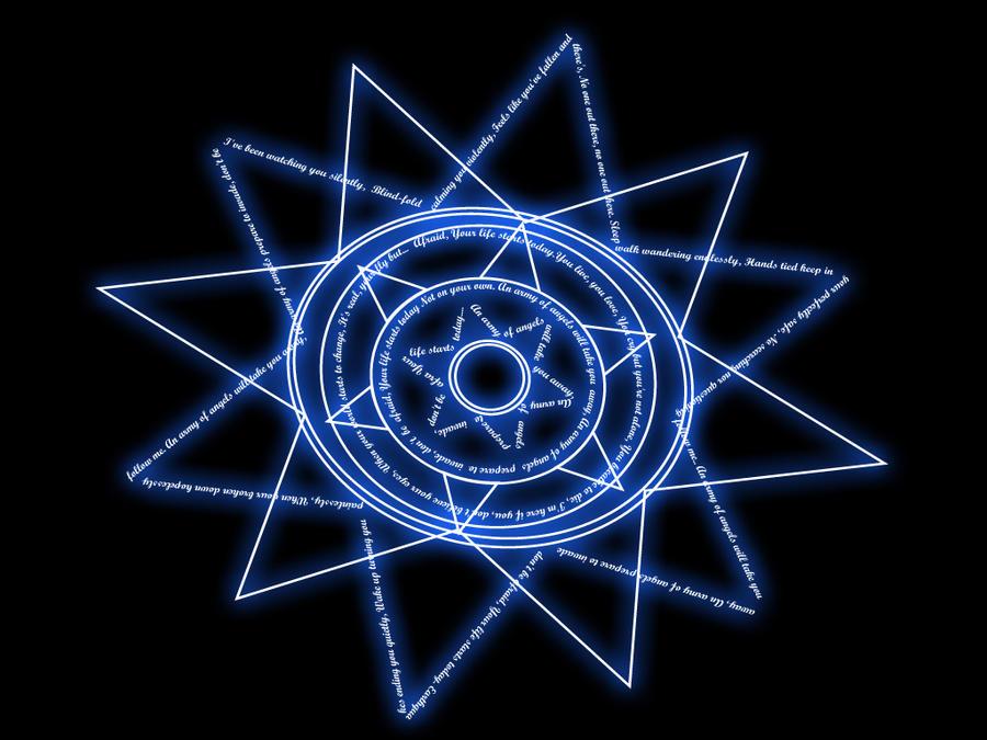 Blue Magic Circle By Homicidalxpandas On Deviantart