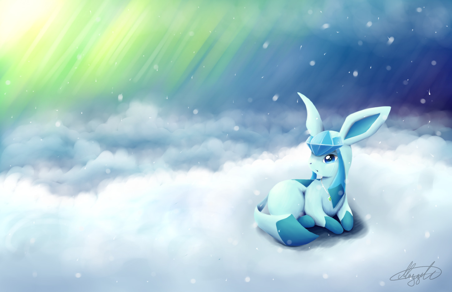 Glaceon Wallpaper by imadrummerXD on DeviantArt