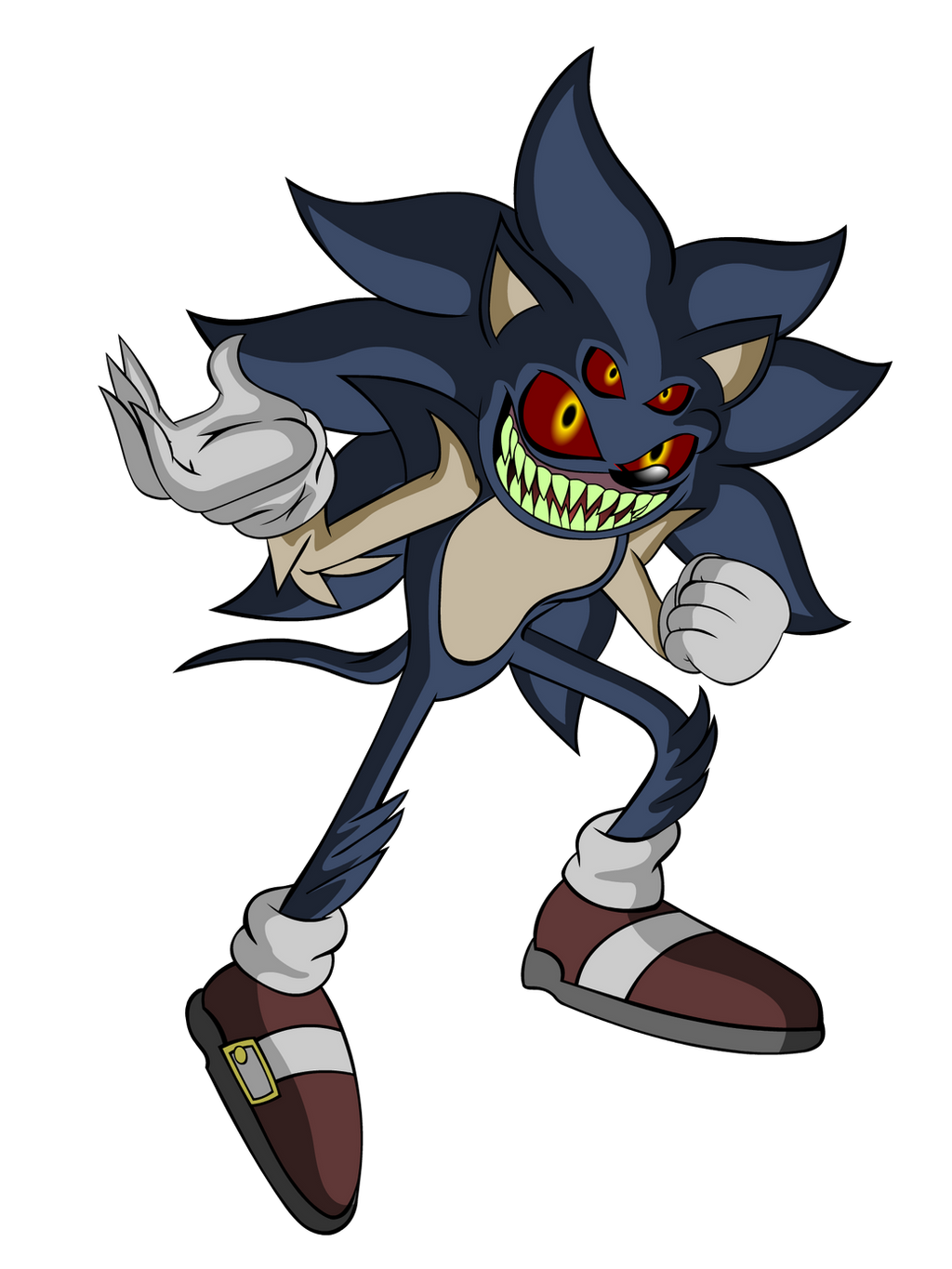 Sonic.exe (Second Form) by Teenage-Brautwurst on DeviantArt