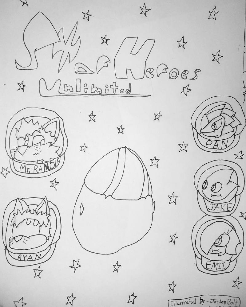 Uncolored intro on Volume 1 of Star Heroes Unlimit by SuperWorld7895