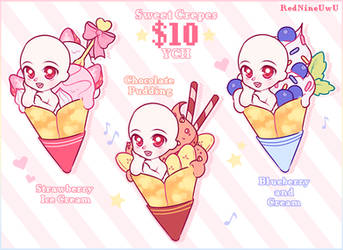 ~Sweet Crepes~ YCH (CLOSED)