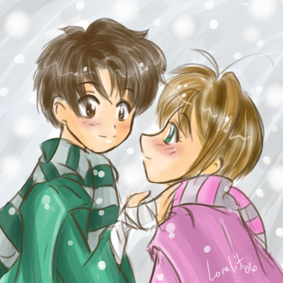 CCS- Syaoran and Sakura by Loralit