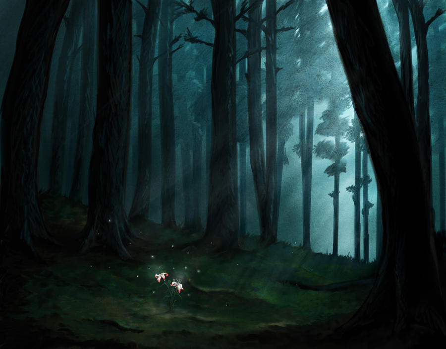 art dark car forest - photo #22