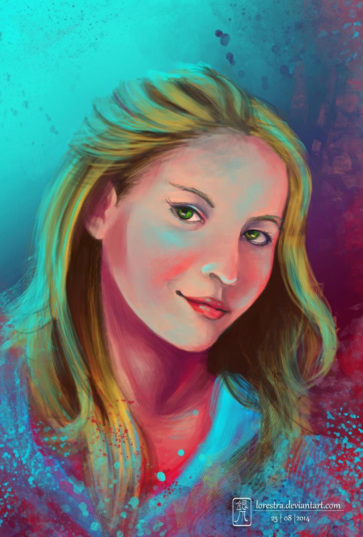 Self portrait by lorestra