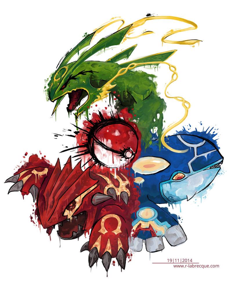 Pokemon Tattoo Honenn-trio by lorestra