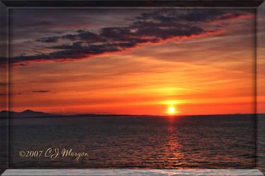 Gulf Island Sunset 3 by e-CJ