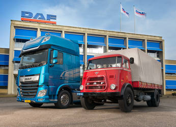 90-Years-of-DAF-DAF-New-XF-and-DAF-A1800-landscape by casparjagerman20
