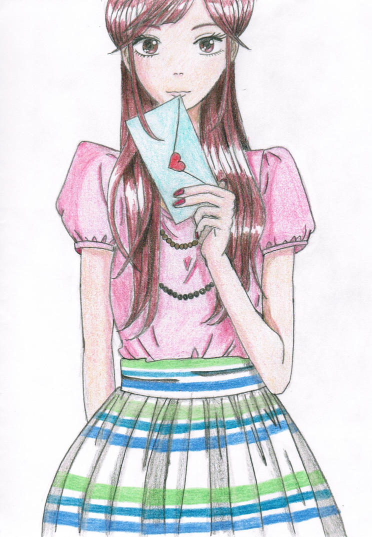 from anime girl with loveolivevanilla on deviantart