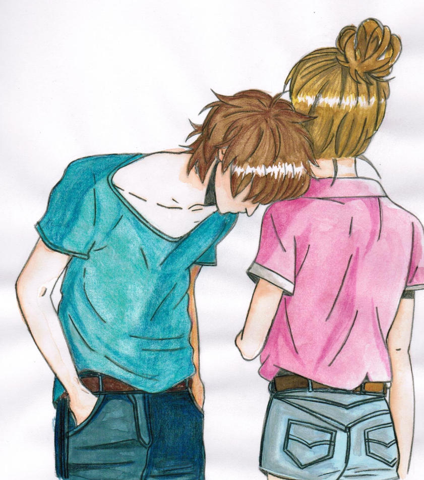Cute anime couple in color by olivevanilla on deviantart cute anime couple in color by olivevanilla altavistaventures Choice Image