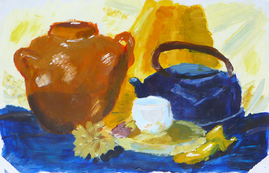 blue-yellow still-life by creatreedesign