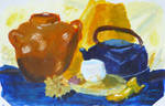 blue-yellow still-life