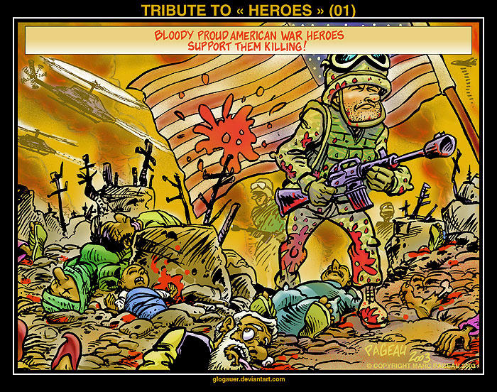 TRIBUTE TO « HEROES » (01) by glogauer
