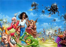 Universe 3000- Drone Massacre by Kaduflyer