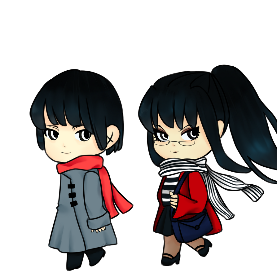 Kiku and Suzana by Laykaloli