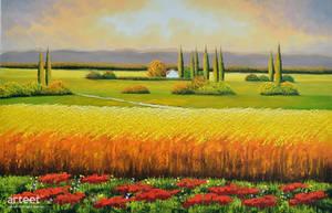 Tuscany Wheatfield - Arteet by Arteet