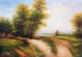 A Sunny Day On The Forest Path - Arteet by Arteet