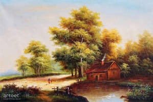 Woody Log Cabin - Arteet by Arteet
