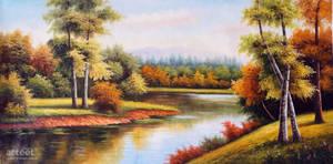 Autumn At The Lake - Arteet by Arteet