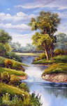 Country Stream Summer Day - Arteet