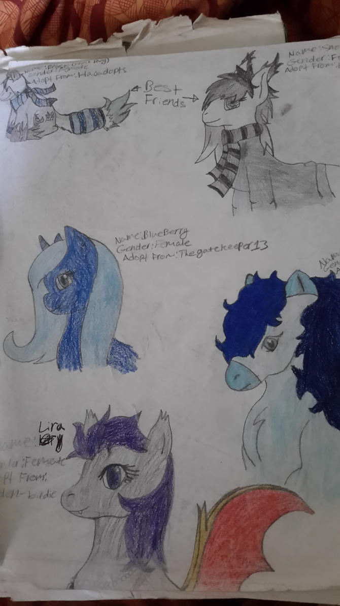 MLP Character Sketches 2 by ratchetthecutest