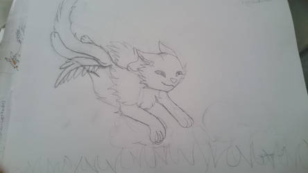 Levi the red flying wolf