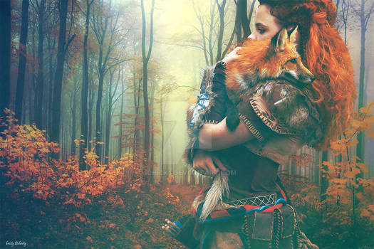 A girl and her fox