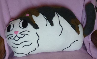 Old Plush: Fat Cat Pillow