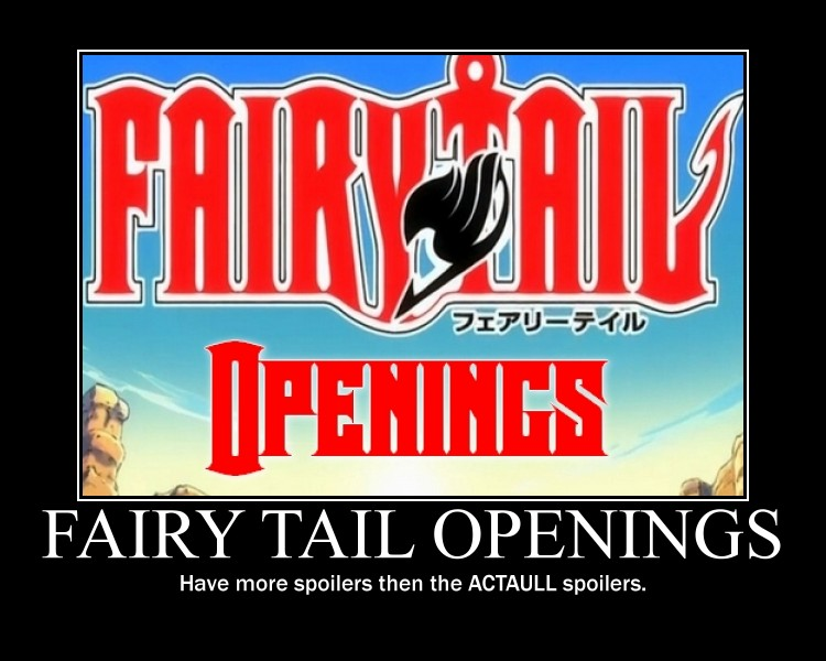 Fairy Tail openings by kittykatkuro923