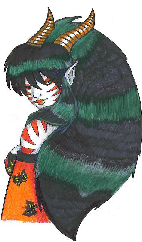 Kabuki-sexy in colored pencil by Alkaline-Lady