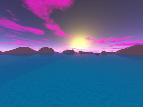 Sunset in a Lonely bay