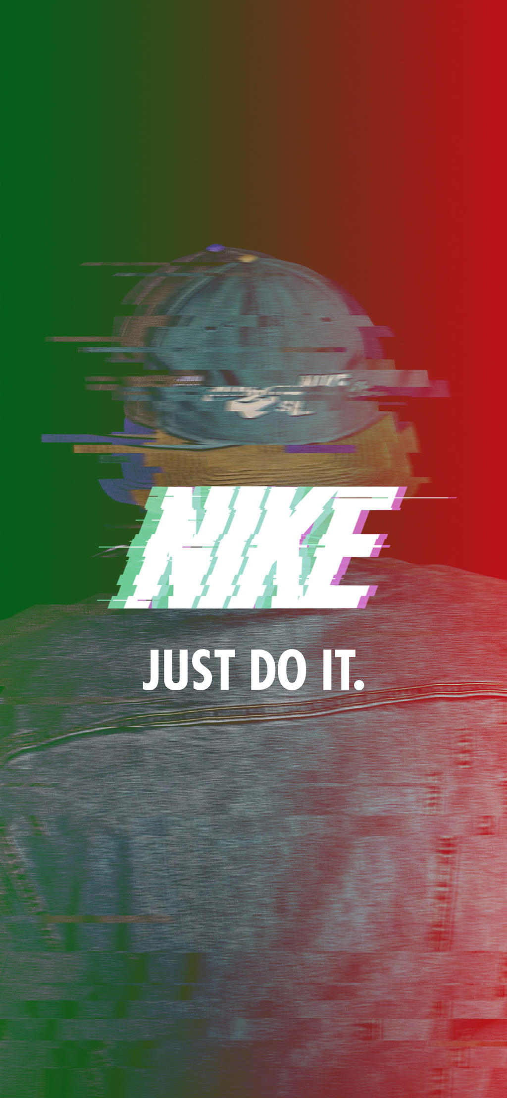 Nike Glitch Effect Wallpaper For Iphonex By Aminerdene On Deviantart