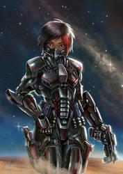 Assai in armor by Daegann