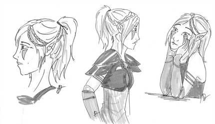 Aewyn hairstyle reference by Daegann