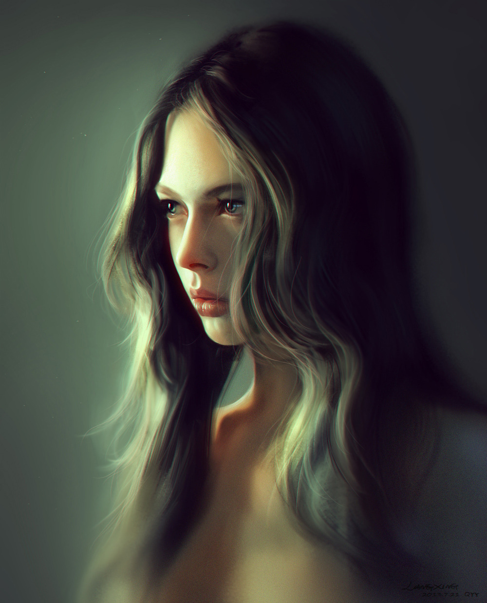 Girl portrait by liang xing