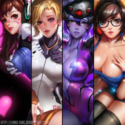 Overwatch fan art by Liang-Xing