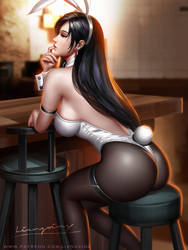 Tifa bunny outfit