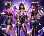 KDA Tifa Aerith Jessie by Liang-Xing