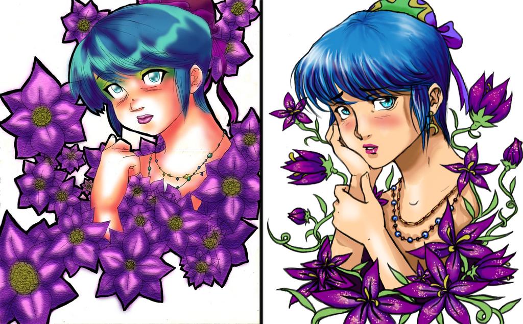 Flower Girl redraw by Nefla