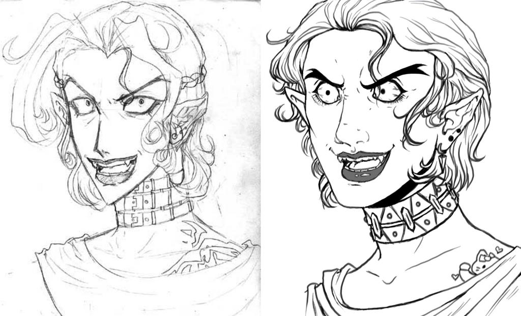 Crazed Vampire Guy Redraw by Nefla