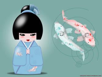 Kokeshi koi wallpaper by selene713