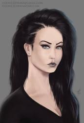 FemalePortriat by VezoniaArtz