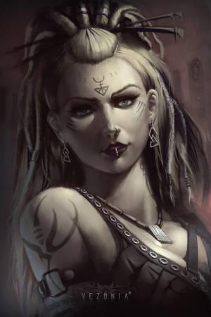 Tribal girl by VezoniaArtz