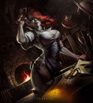 Sasha The Blacksmith Fanart