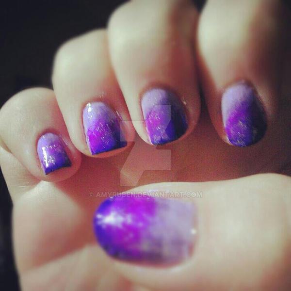 Purple Ombre with Subtle Silver Flecks by amyruben