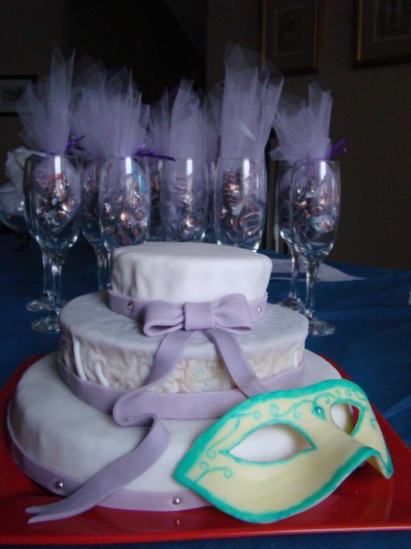 sweet 16 masquerade cake