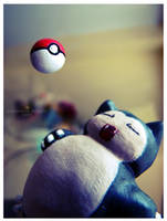 A Wild Snorlax Appears by xcalixax