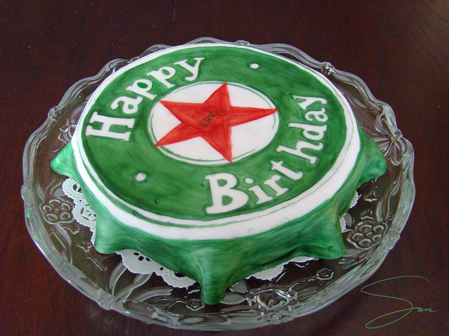 Happy Birthday Heineken Cake